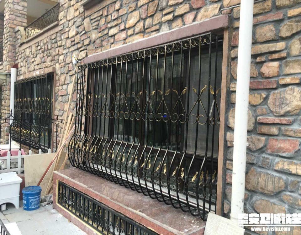 铁艺护窗THC201603-2-济宁海情圣地别墅区