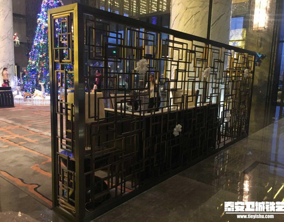 铁艺隔断TGD201623-案例赏析-万达酒店