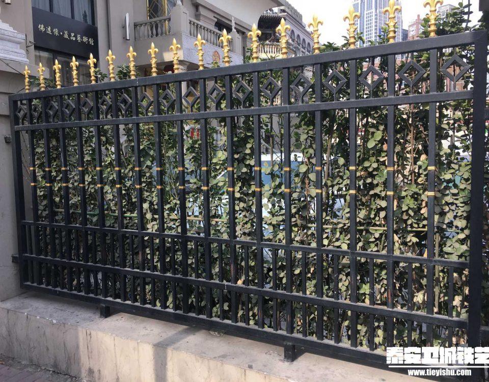 铁艺围栏\铁艺围墙TW201655-案例赏析-实景拍摄