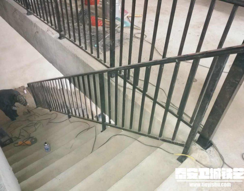 铁艺扶手/消防楼梯扶手TFS201636-泰安中悦城项目